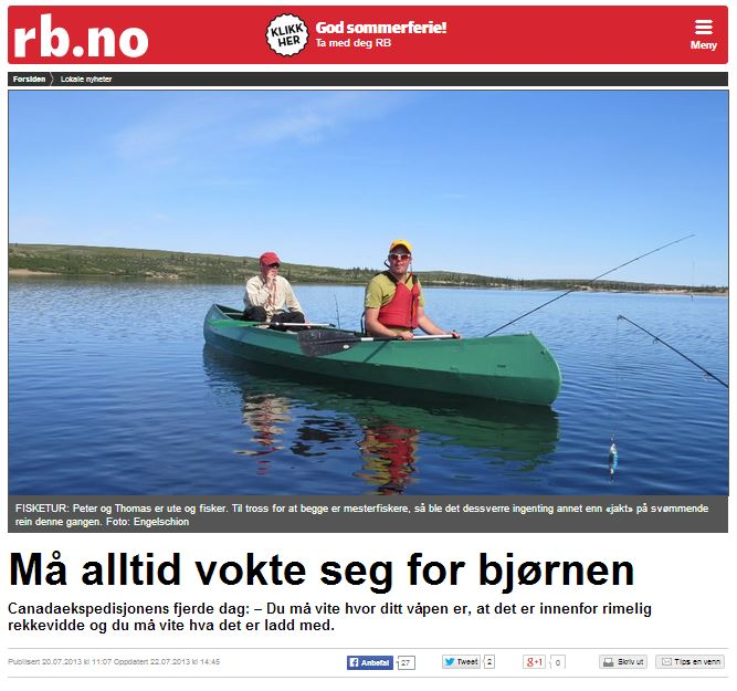 Romerikes Blad - Sandy Lake Expedition 2013 - M? alltid passe seg for bj?rnen