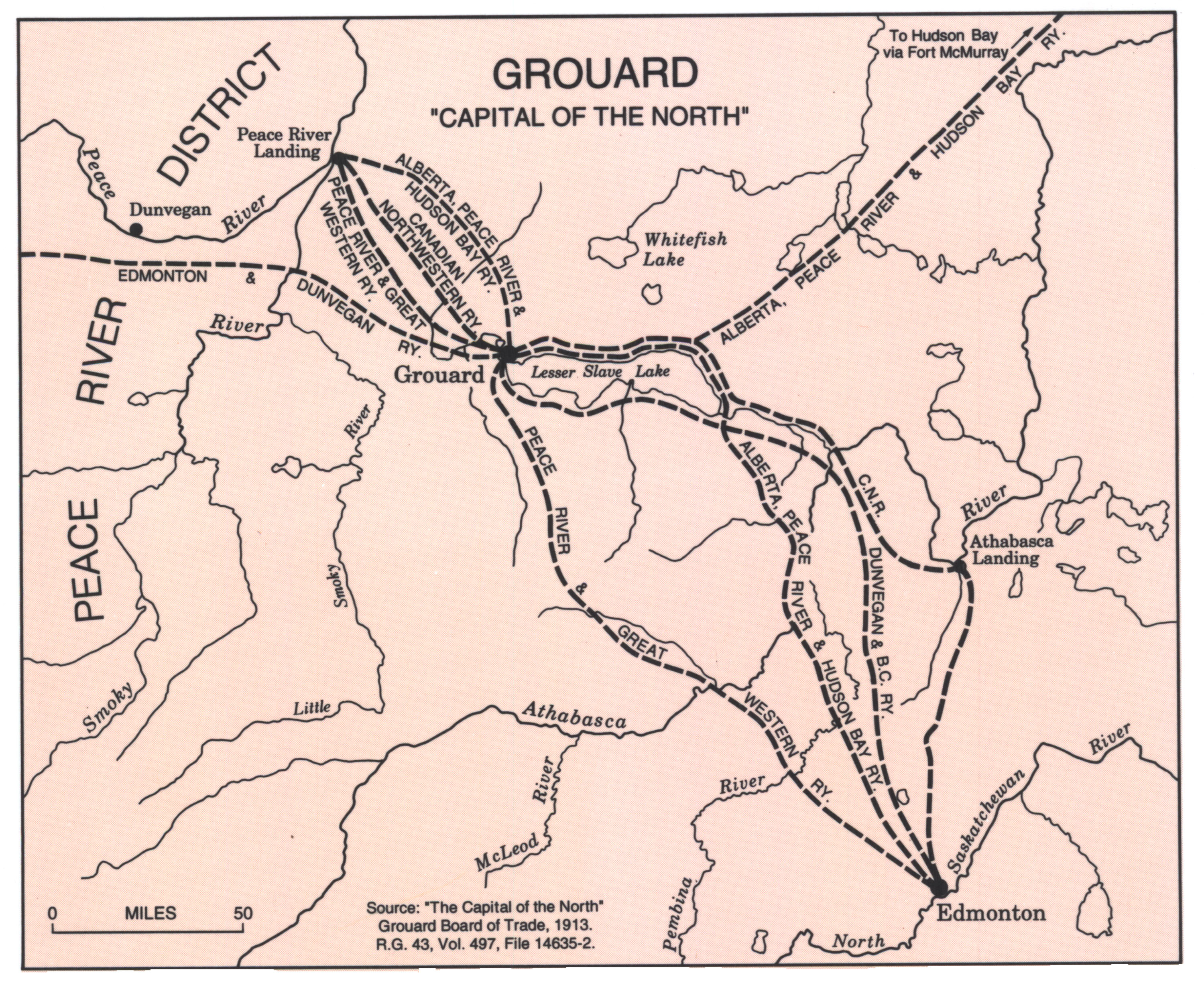 Grouard - The Capital of the North - Traderoutes in 1913
