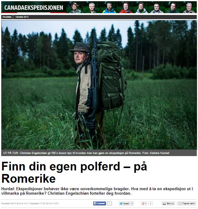 Romerikes Blad - Sandy Lake Expedition 2013 - Finn din egen polferd