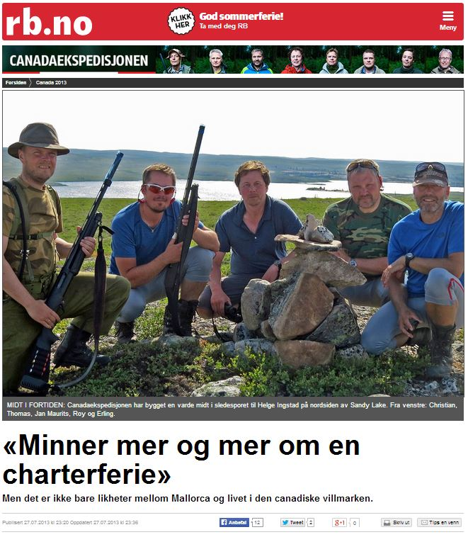 Romerikes Blad - Sandy Lake Expedition - Minner mer og mer om en charterferie