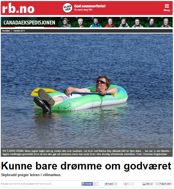 Romerikes Blad - Sandy Lake Expedition - Kunne bare dr?mme om godv?ret