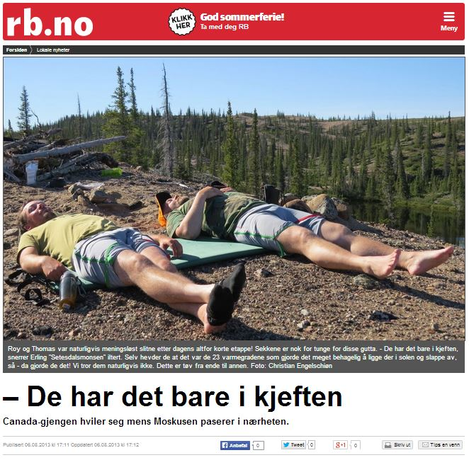 Romerikes Blad - Sandy Lake Expedition 2013 - De har det bare i kjeften