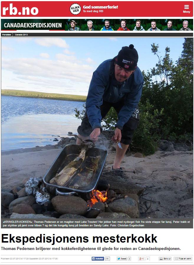 Romerikes Blad - Sandy Lake Expedition - Ekspedisjonens mesterkokk