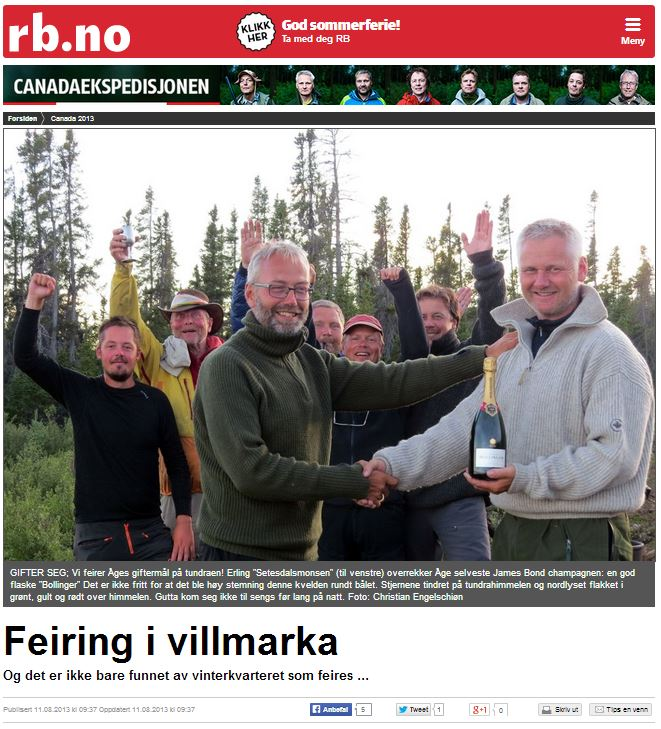 Romerikes Blad - Sandy Lake Expedition - Feiring i villmarka