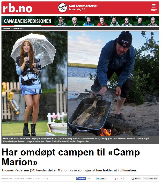 Romerikes Blad - Sandy Lake Expedition 2013 - Har omd?pt campen til Camp Marion