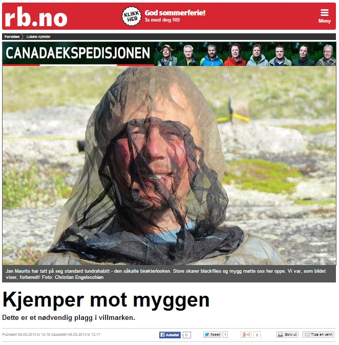 Romerikes Blad - Sandy Lake Expedition 2013 - Kjemper mot myggen