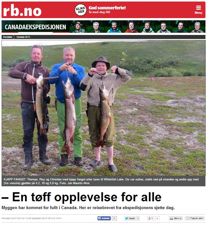 Romerikes Blad - Sandy Lake Expedition 2013 - En t?ff opplevelse for alle