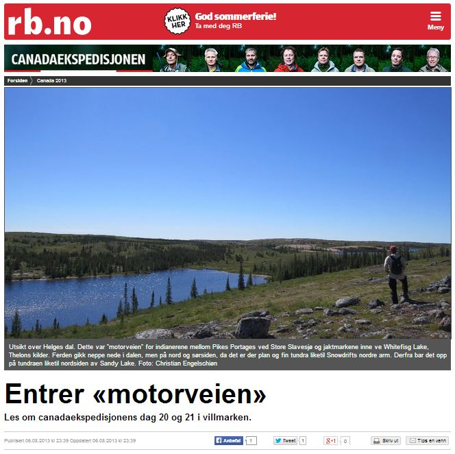 Romerikes Blad - Sandy Lake Expedition - Entrer motorveien