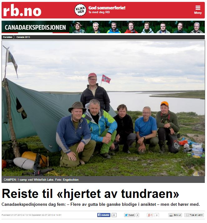 Romerikes Blad - Sandy Lake Expedition - Reiste til hjertet av tundraen