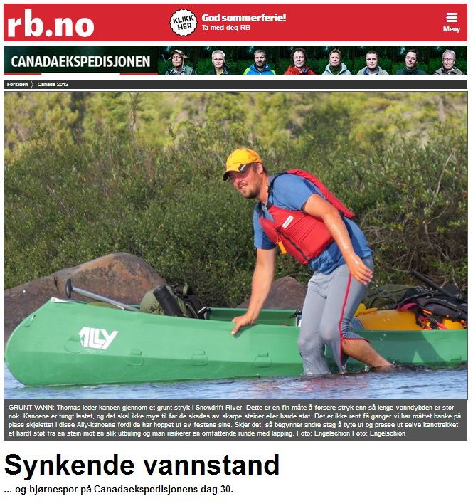 Romerikes Blad - Sandy Lake Expedition - Synkende vannstand